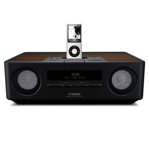avad yamaha integrated audio system ipod iphone dock black. Black Bedroom Furniture Sets. Home Design Ideas